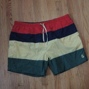 Nautica Vintage Swim Trunks Multicolor Colorblock